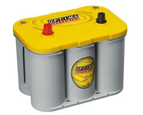 Optima Yellow - 12v 55ah - autó akkumulátor - bal+ *S - 4,2