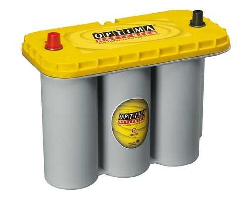 Optima Yellow - 12v 75ah - autó akkumulátor - közép *S - 5,5