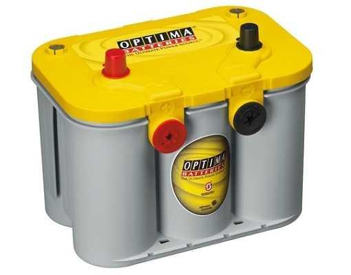 Optima Yellow - 12v 55ah - autó akkumulátor - bal+ * oldalcsavaros *U - 4,2