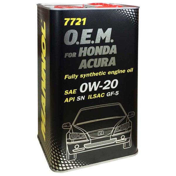 Motorolaj 0W-20 4L SN, GF-5 (Honda, Acura) Metal