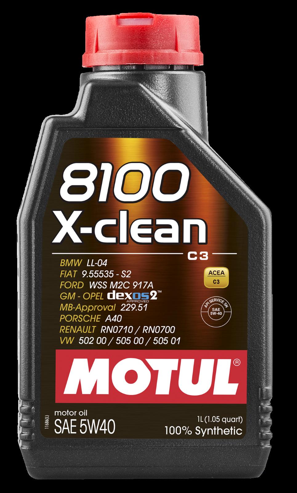 MOTUL AG MOTUL 8100 X-clean 5W-40 1L
