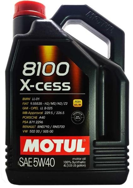 MOTUL AG MOTUL 8100 X-cess 5W-40 4L