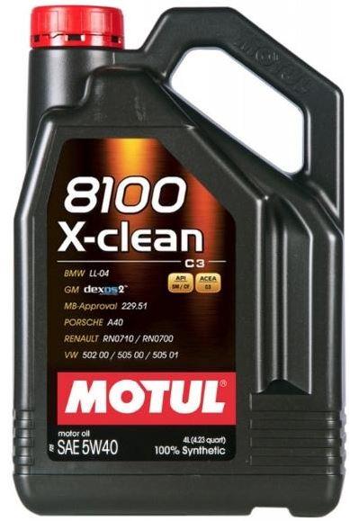 MOTUL AG MOTUL 8100 X-clean 5W-40 4L