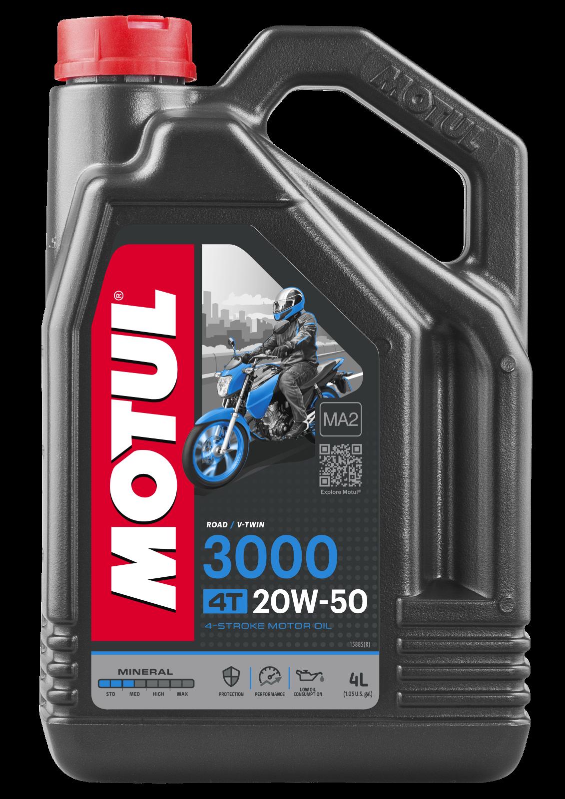 MOTUL AG MOTUL 3000 4T 20W-50 4L