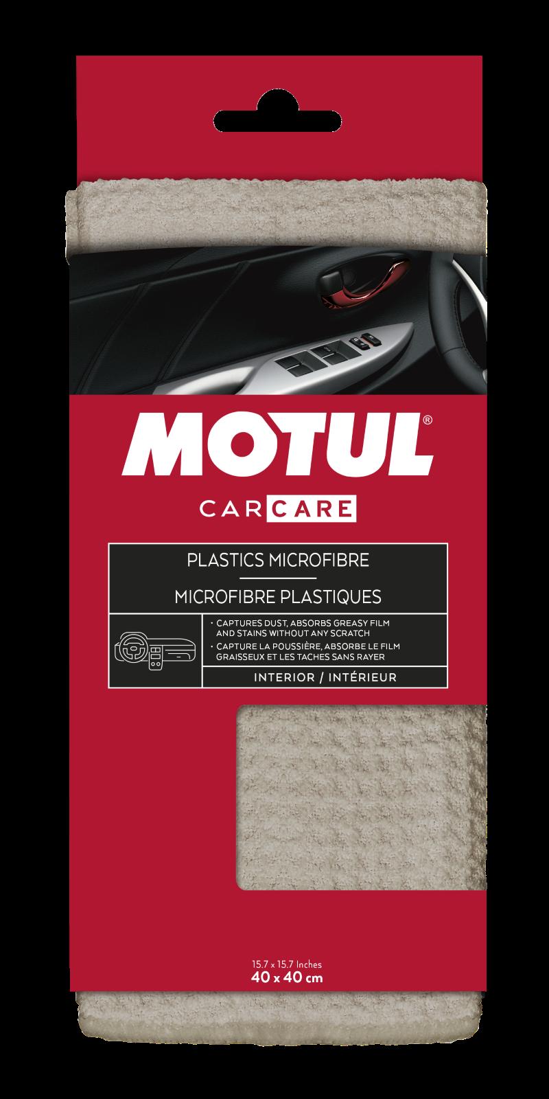 Autóápolás Plastics Microfibre - Műanyagtisztító kendő