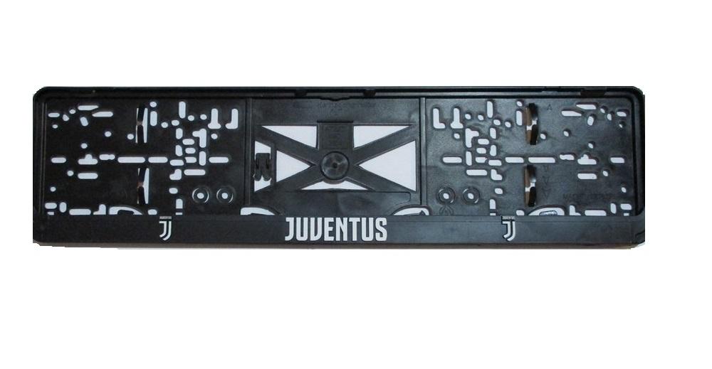 Rendszámtábla tartó, feliratos, logós, Juventus FC (P322)