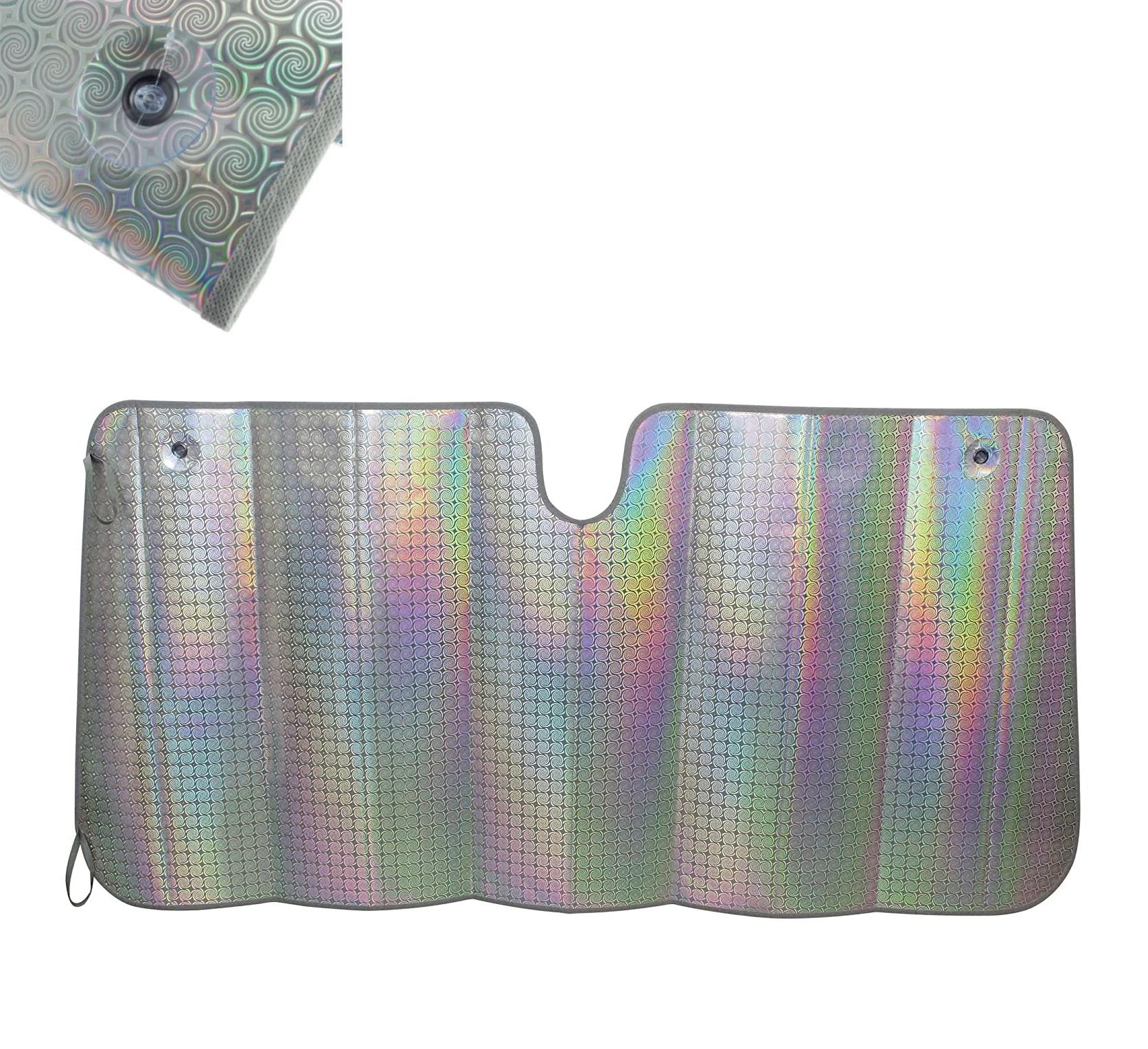 Szélvédőtakaró hologramos 145x80cm | LASER napárnyékoló XL