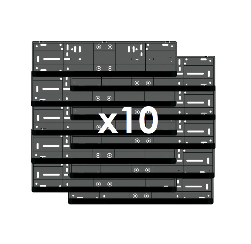 Rendszámtábla tartó alsó léces 10db-os csomag