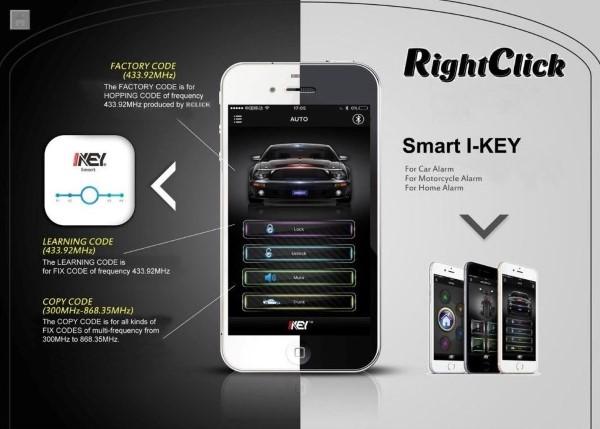 Autófelszerelés Központi modul, telefonos applikációval