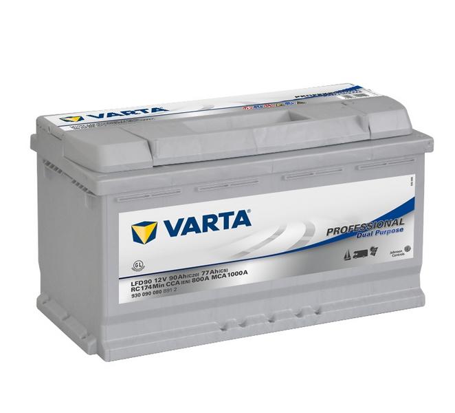 Akkumulátor Varta Prof.Dual Purpose - 12v 90ah - jobb+