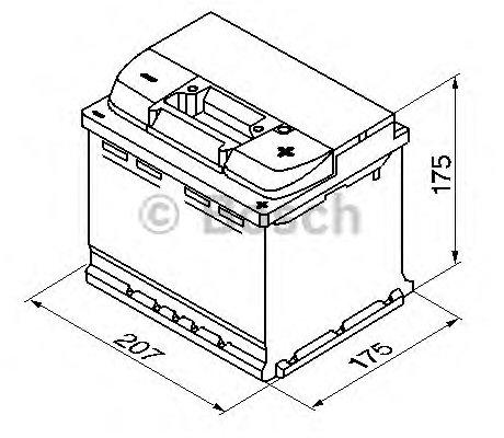 Indító Akkumulátor Bosch Silver S4 12V 44Ah J+ /440A