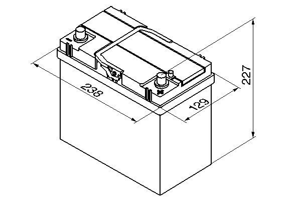 Bosch akku Asia S4 45/330