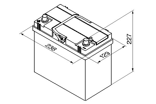 Bosch akku Asia S4 45/330 b+