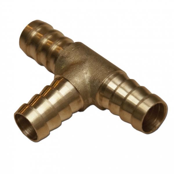 Csőelosztó T-idom, réz, 6mm