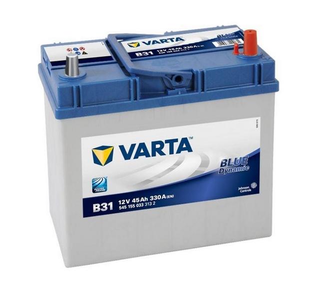 Akkumulátor Blue - 12v 45ah - autó - jobb+ *ázsia *vékonysarus